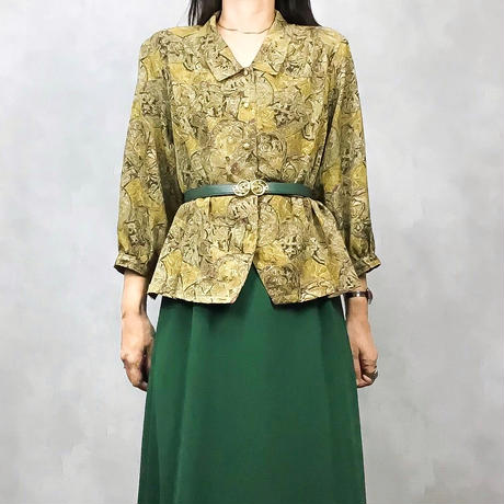 Design collar gold shirt-523-9