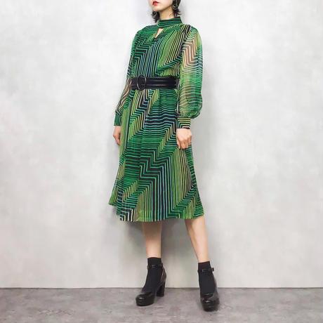 turtle rétro high neck dress-477-8