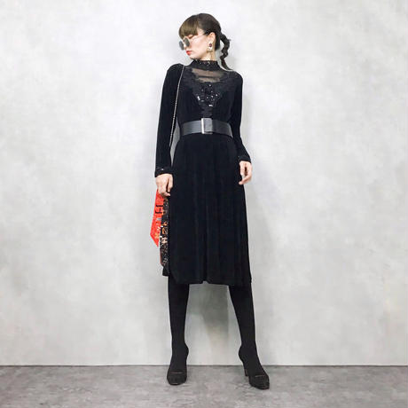 Spangle black dress