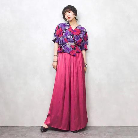 Wreath color flower  shirt-307