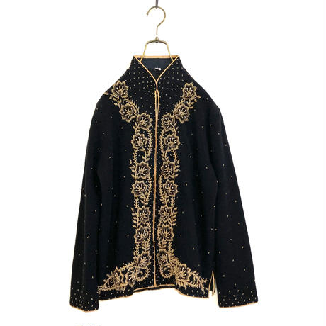 Beads design china knit cardigan-784-12