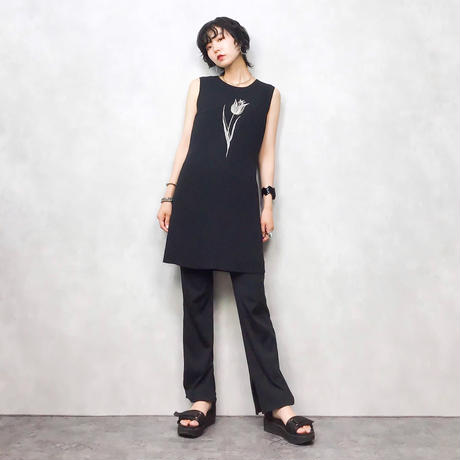 TULIP embroi black tunic-398-7
