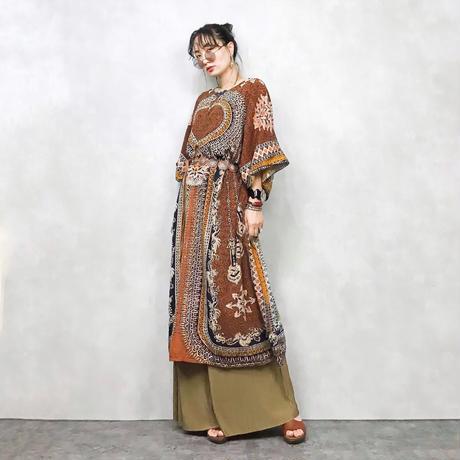 Ethnic pattern dress-473-8