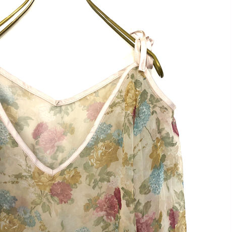LOVE FOREST see-through flower tops-278