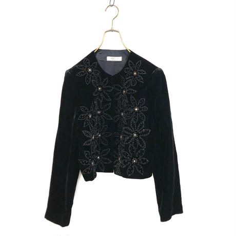 objet 1 velour black jacket-700-11
