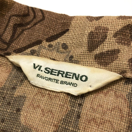 VI.SEREENO brown shirt-394-7