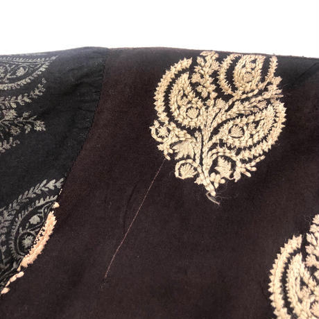 bspret embroidery design brown tunic-883-2