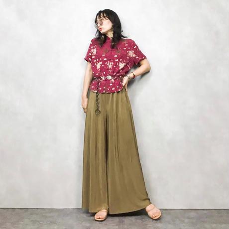 monsoon wine red china shirt-426-7