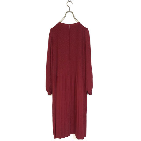 Genetpelsone wine red dress-521-9