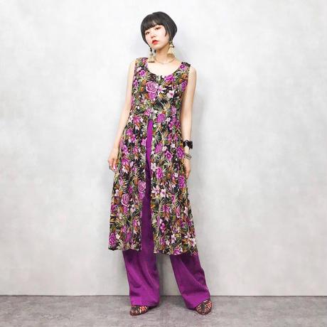 dressbarn purple flower one piece
