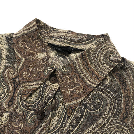 Deaurille paisley  brown shirt-529-9