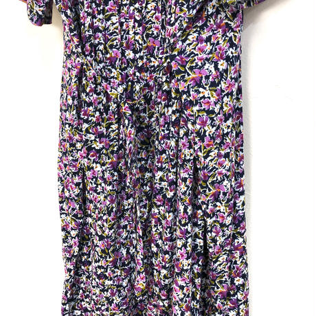 J.BS.LTD. purple flower dress-405-7