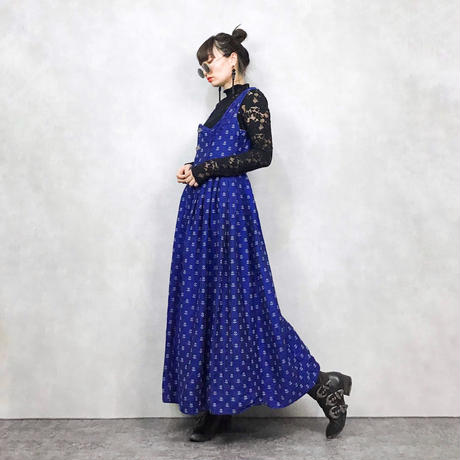Jacquard blue jumper skirt