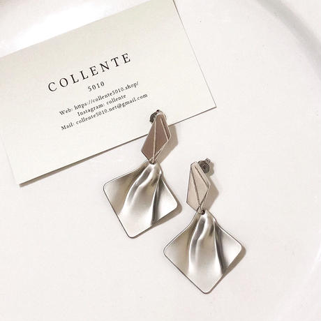 COLLENTE original Geometry wind silver pierce