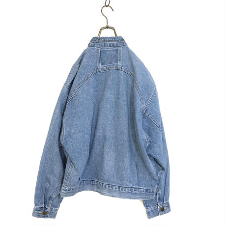 Light blue Vintage denim jacket-550-9