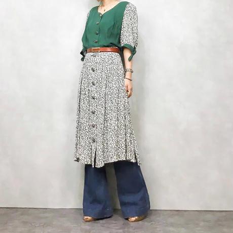AImrausch green dress-421-7