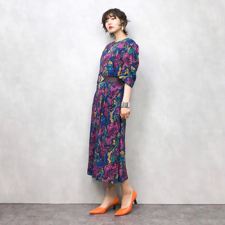 Lady Caroe OF NEW YORK flower dress-377-7