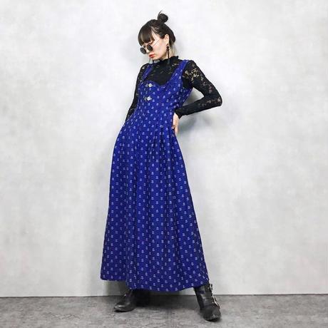 Jacquard blue jumper skirt