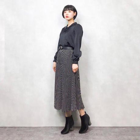 Dot pattern long skirt