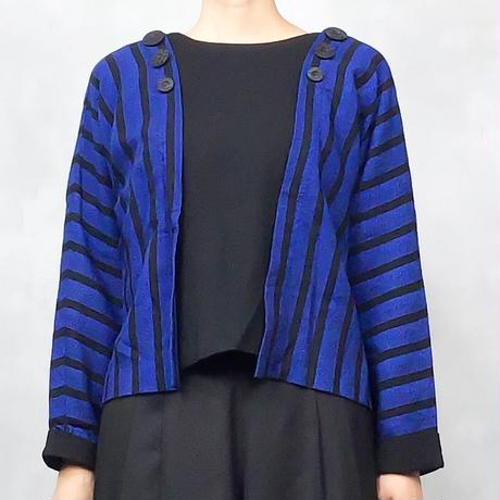 MelRabio stripe blue tops-632-10