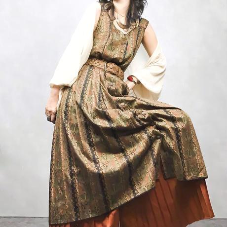 Shell vintage  long dress-370-7