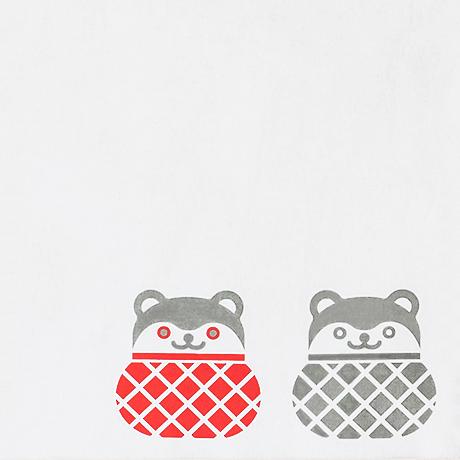 山形風呂敷/山形張り子・まり猫/コットン