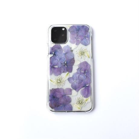 押し花ケース iPhone11pro  あじさい