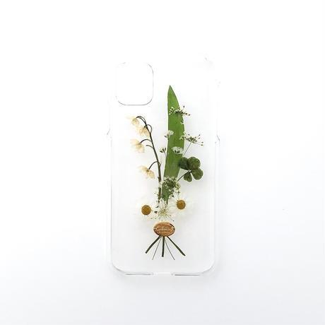 押し花ケース iPhone11/XR すずらん花束
