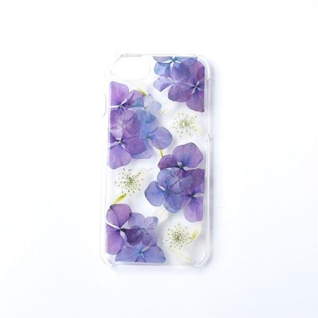 押し花ケース iPhone6/6s/7/8/SE2  あじさい