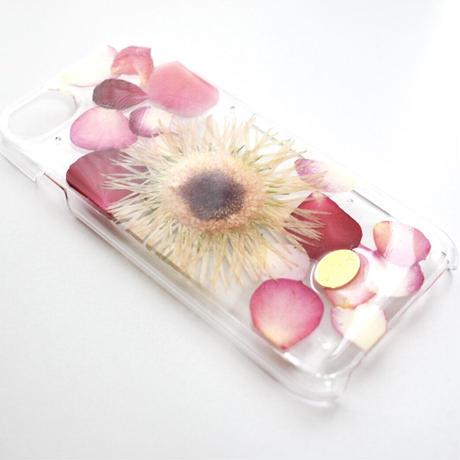 押し花ケース iPhone6/6s/7/8/SE2 ガーベラ
