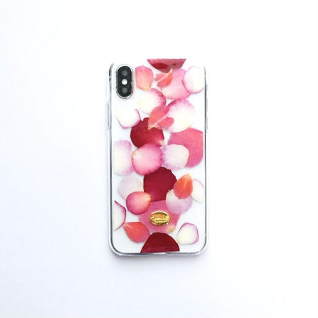 押し花ケース iPhoneX/Xs  ROSE (PK)