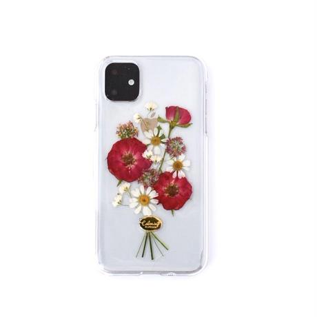 押し花ケース iPhone11/XR バラ花束