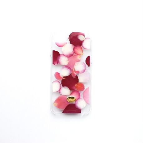 押し花ケース iPhone6/6s/7/8/SE2  ROSE (PK)