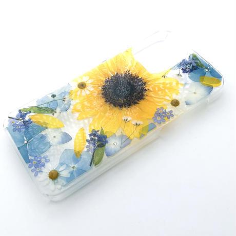 押し花ケース iPhone12/12pro 向日葵
