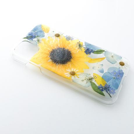 押し花ケース iPhone11/XR 向日葵