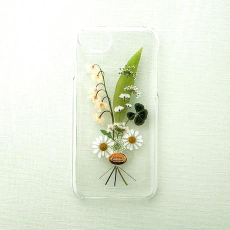 押し花ケース iPhone6/6s/7/8/SE2 すずらん花束