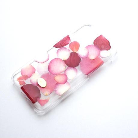 押し花ケース iPhone11 pro  ROSE (PK)