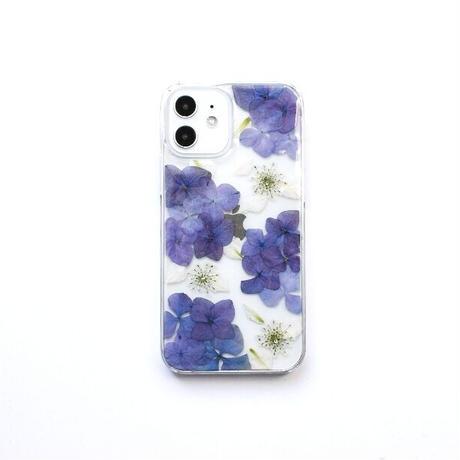 押し花ケース iPhone12/12pro あじさい