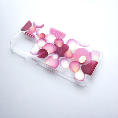 押し花ケース iPhone12/12pro  ROSE (PK)
