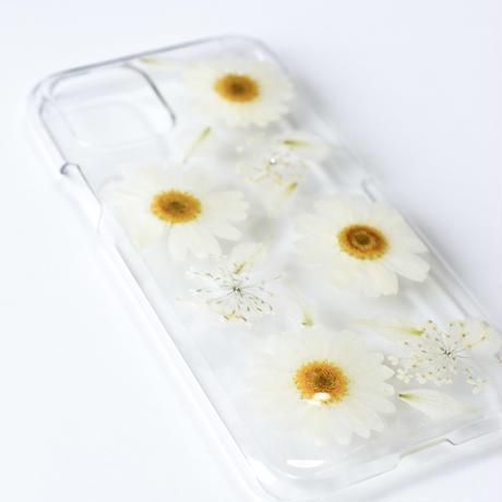 押し花ケース iPhone11 pro ノースポール