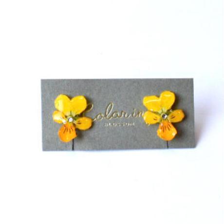 ビオライヤリング(スタッド)-黄色