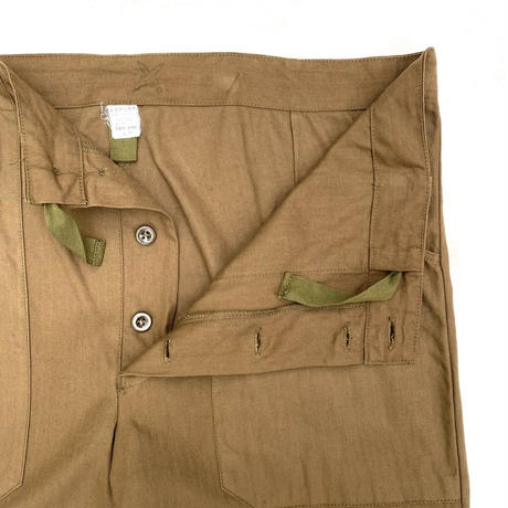80-90s  Dead Stock / Czech Military / HBT Easy Utility Pants / Khaki