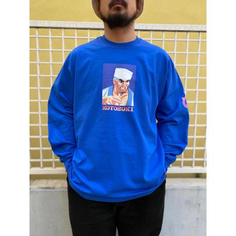 """TACORIDE / """"KOTOBUKI"""" L/S Tee / Blue"""