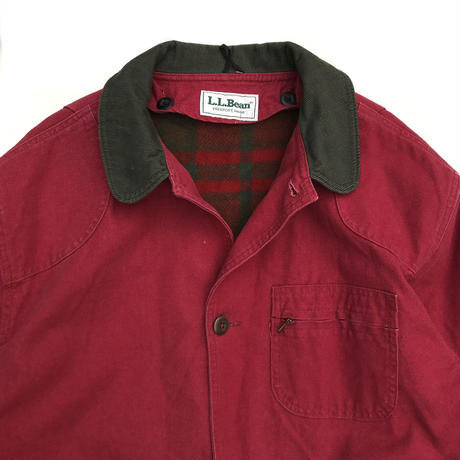 Made in USA / 80s L.L.Bean / Wool Lined Hunting Jacket / Burgundy / Used