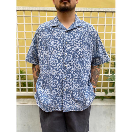 """90's Polo by Ralph Lauren / """"CALDWELL"""" Resort Open Collar Shirt / Used"""