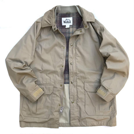 Made in USA / 70s Vintage Woolrich / Wool Lined Coach Jacket / Beige / Used