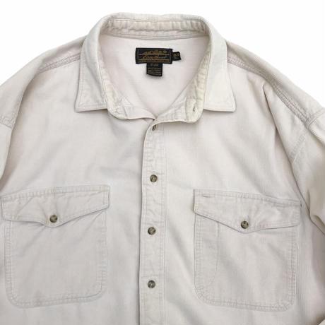 80's Eddie Bauer / 2Pocket Corduroy Shirt / Natural / Used