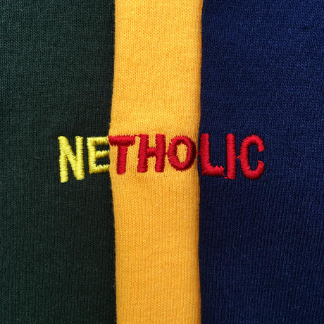 "Color at Against ORIGINALS / ""NETHOLIC"" Long Sleeve  TEE / Navy × Red"