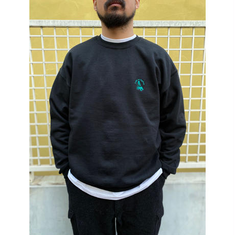Color at Against Originals / Mister Embroidered Crew Sweat / Black