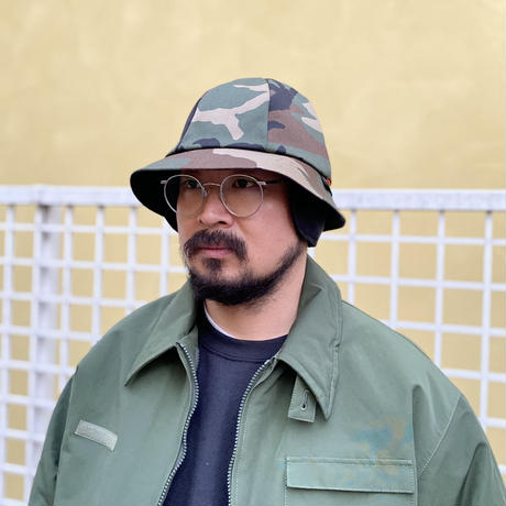 RWCHE / TWO FACE CAMO HAT / OLIVE, BEIGE